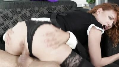 Rich man hard Fucks maid in nedomytye dishes