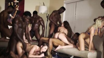 Party with black guys is over group sex