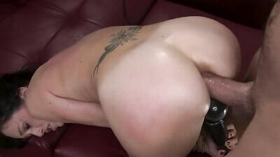 Horny man tied girlfriend and powerfully fucked in anal hole